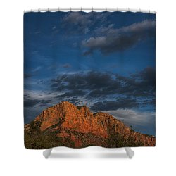 Moon Over Sedona Shower Curtain