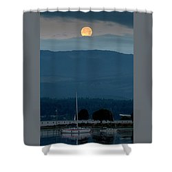 Moon Over The Spit Shower Curtain