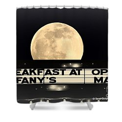 Moon Over Tiffany's Shower Curtain