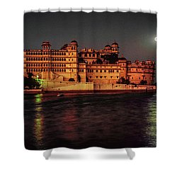 Moon Over Udaipur Shower Curtain by Steve Harrington