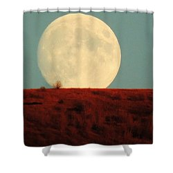 Moon Over Utah Shower Curtain by Charlotte Schafer