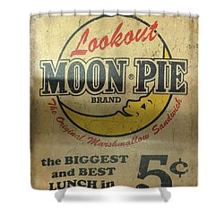 Moon Pie Antique Sign Shower Curtain