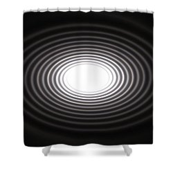 Moon Rings Shower Curtain