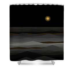 Moon Rise Abstract II Shower Curtain