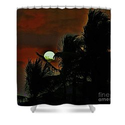 Shower Curtain featuring the photograph Moon Rise by Craig Wood