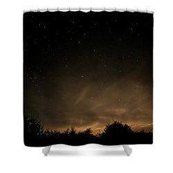 Shower Curtain featuring the photograph Moon Rise by Katie Wing Vigil