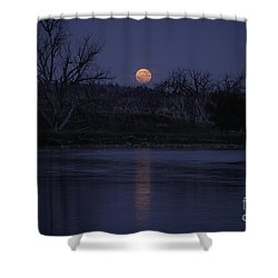 Moon Rise Over The Tongue Shower Curtain by Shevin Childers