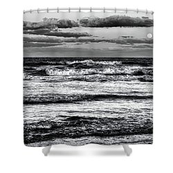 Shower Curtain featuring the photograph Moon Rising  by Louis Ferreira