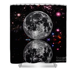 Shower Curtain featuring the photograph Moon River by Naomi Burgess
