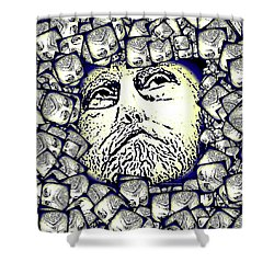 Moon Rocks Shower Curtain by Tobeimean Peter