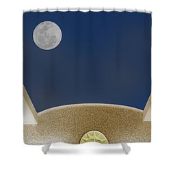 Shower Curtain featuring the photograph Moon Roof by Paul Wear