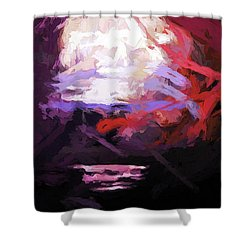 Moon Sky Pink Sea Shower Curtain