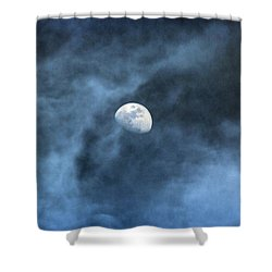 Moon Smoke Shower Curtain