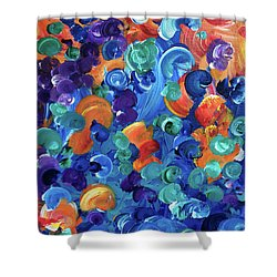 Moon Snails Back To School Shower Curtain