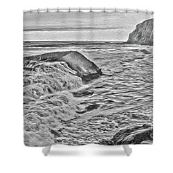 Moon Tides Shower Curtain