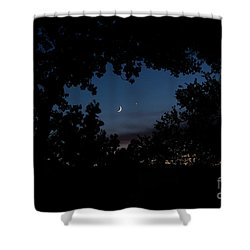 Moon Venus, Jupiter Shower Curtain
