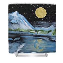 Moon Wishes Shower Curtain
