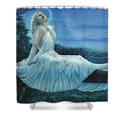 Moonbeams Shower Curtain