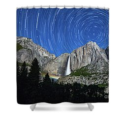 Moonbow And Startrails  Shower Curtain