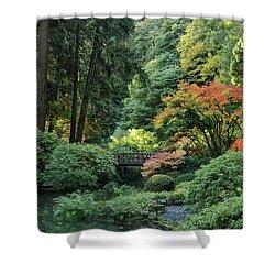 Moonbridge Autumn Serenade Shower Curtain
