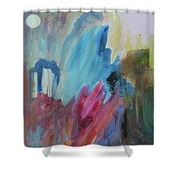Shower Curtain featuring the painting Moonchaser by Robin Maria Pedrero