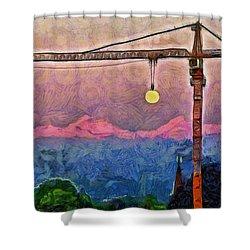 Mooncrane - Da Shower Curtain