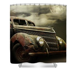 Moonlight And Rust Shower Curtain