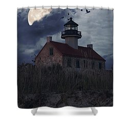 Moonlight At East Point Shower Curtain