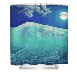 Moonlight At Sea Shower Curtain