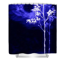 Moonlight Bamboo Shower Curtain by Lanjee Chee