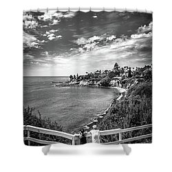 Shower Curtain featuring the photograph Moonlight Cove Overlook by T Brian Jones