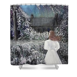 Moonlight Garden Shower Curtain by Lyric Lucas