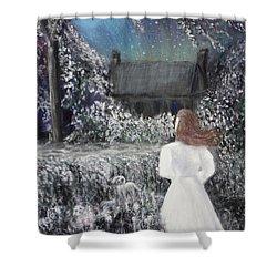 Moonlight Garden Shower Curtain