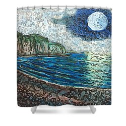 Moonlight In Pourvill Shower Curtain
