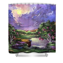 Moonlight In The Woods Shower Curtain