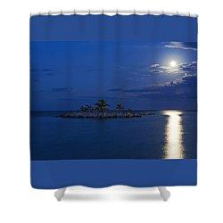Moonlight Island Shower Curtain