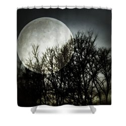 Shower Curtain featuring the photograph Moonlight by Marianna Mills