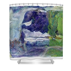 Moonlight Mountain Shower Curtain