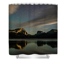 Moonlight On Green River Lake Shower Curtain