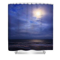 Moonlight On The Ocean At Hatteras Shower Curtain