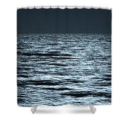 Moonlight On The Ocean Shower Curtain by Nancy Landry