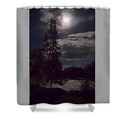 Moonlight On The River Shower Curtain