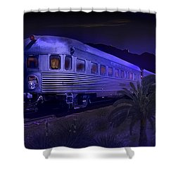 Moonlight On The Sante Fe Chief Shower Curtain by J Griff Griffin