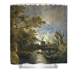 Moonlight On The Yare Shower Curtain