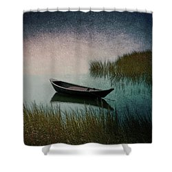 Moonlight Paddle Shower Curtain by Brooke T Ryan
