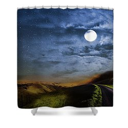Moonlight Path Shower Curtain by Swank Photography