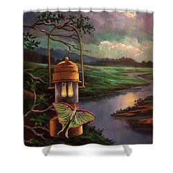 Moonlight, Silhouettes And Shadows Shower Curtain