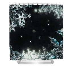 Moonlight Snow Burial Shower Curtain