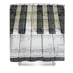 Moonlight Sonata 3rd Movement Shower Curtain
