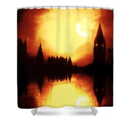 Shower Curtain featuring the digital art Moonlight-sonata  by Fine Art By Andrew David